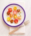 Plated Heirloom Tomatoes