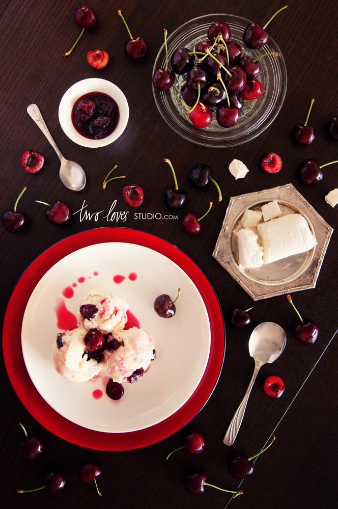 Cream Sundays: Jenis Goats Cheese Ice Cream with Roasted Red Cherries ...